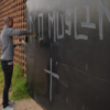 Shock at graffiti blasting Muslims