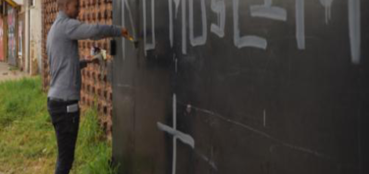 Shock at graffiti blasting Muslims