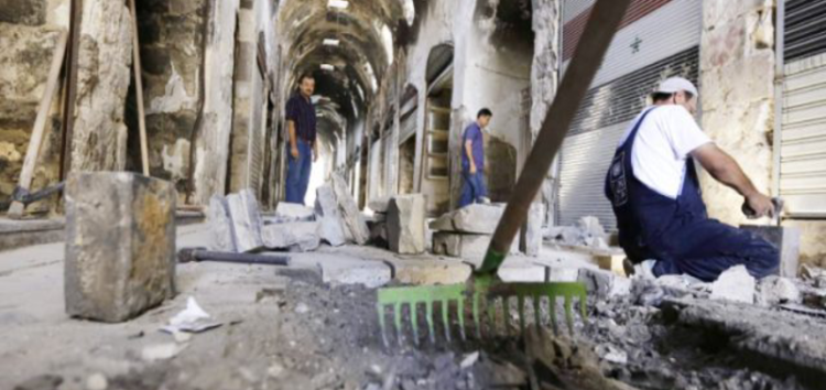 War-ravaged ancient market slowly reemerges in Homs – Syria
