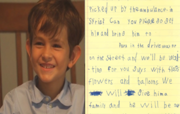 6 Year-Old Boy Offers Home to Syrian Boy in Heartwarming Letter