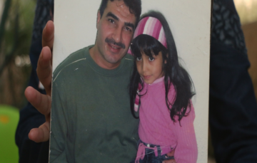 Palestinian teenager describes what it was like to hug her father for the first time in 12 years.