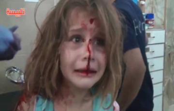 Heartbreaking footage shows injured young girl calling for father after Syrian airstrike