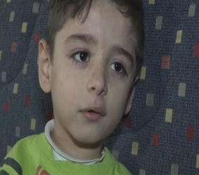 The story of Mahmoud: An armless Syrian child who lost his legs to landmine