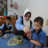 Down Syndrome teacher from Gaza inspires her disabled students