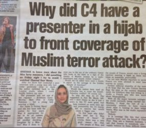 C4 presenter says hijab ruling means it's 'open season' on Muslims