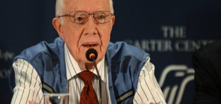 Former US President Carter urges Obama to recognise Palestine #PalestineState