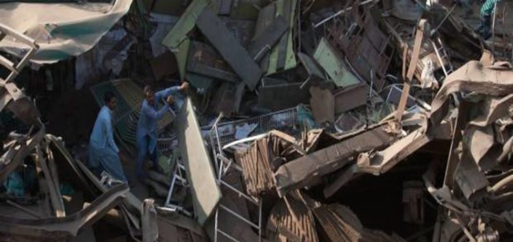 Pakistani officials: Trains crash kills 17 in Karachi