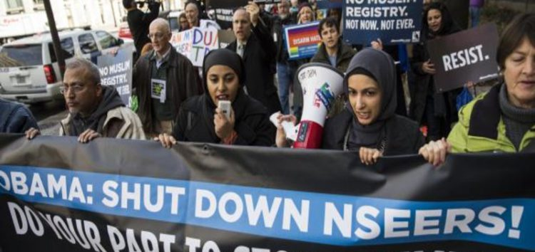 Anti-Muslim Registry Protest in Washington