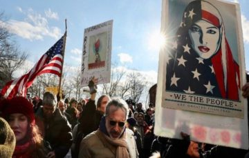Trump faces tide of criticism, protests, legal challenges over travel bans #Trump