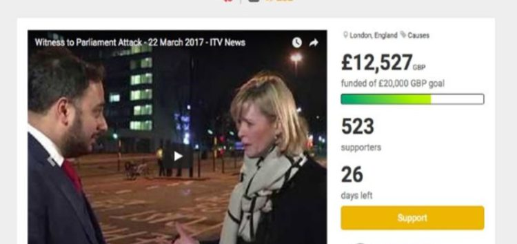 UK Muslims raise over £12k for victims of Westminster terror attack