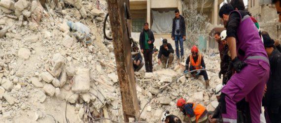 Air strike on Aleppo mosque kills dozens