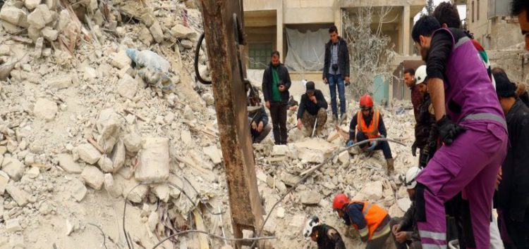 Air strike on Aleppo mosque kills dozens