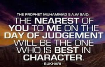 A mu'min is recognised by his good character