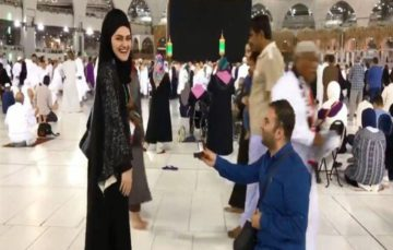 Viral video of marriage  proposal in front Holy Kaaba sparks outrage