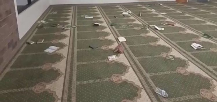 Another Mosque Vandalised In America As Man Breaks Into Mosque, Rips Up Copies of Qur'an
