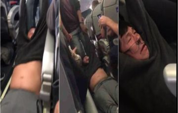 Man violently dragged off plane prompts outrage and scorn on social media, and anger among other passengers
