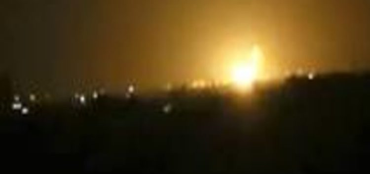 Arms depot near Damascus International airport goes up in flames after series of overnight strikes blamed on Israel