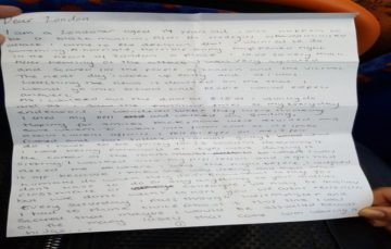 'DEAR LONDON, THIS IS MY HOME' Heartbreaking letter 'left on London bus by teen Muslim schoolgirl'