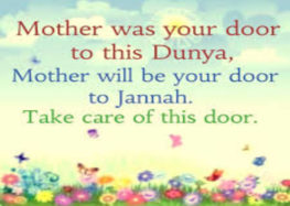 When last did u make sincere dua for your mother?