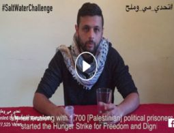 #SaltWaterChallenge goes viral- Palestinians take on 'Salt Water Challenge' to draw attention to plight of more than 1,500 prisoners on hunger strike