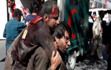 Dozens of civilians killed after huge explosion rips through Kabul