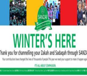 SANZAF – bringing warmth amidst the icy weather