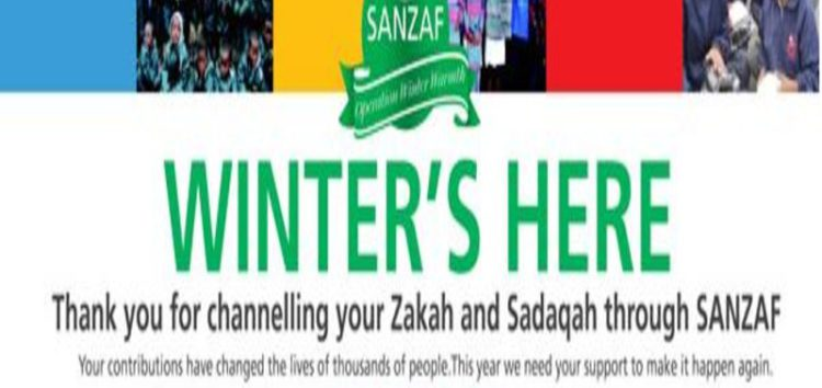 SANZAF – bringing warmth amidst the icy weather