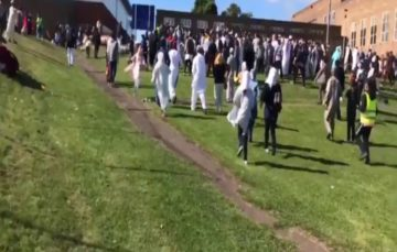 Six injured as car ploughs into Muslims leaving Eid prayers