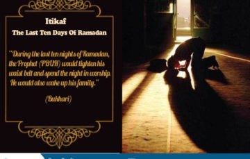 Itikaaf during the last ten days on Ramadaan