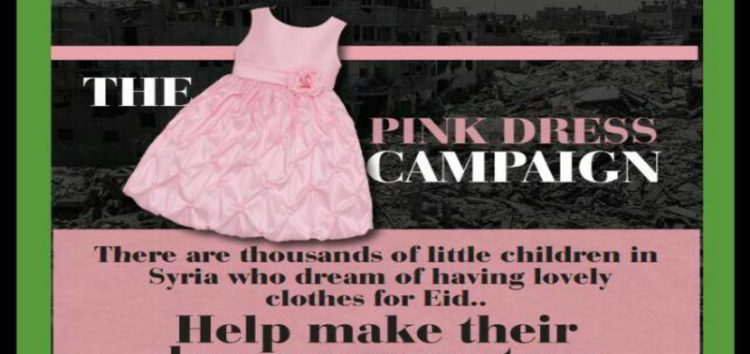 There's a little girl that dreams of having a pink dress #PinkDressCampaign