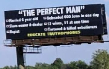 Billboard insulting Prophet Muhammed draws outrage and concern