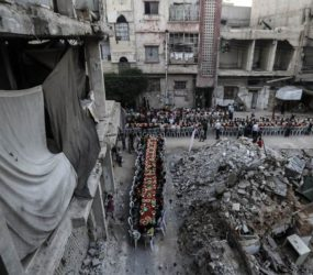 Douma,Syria: Iftaar amid rubble and ruin #Ramadaan1438