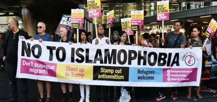Vigil held in UK to protest Islamophobic attacks