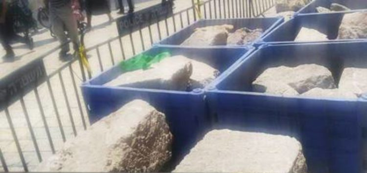 Israel steals rocks from Al Aqsa Mosque, inflict serious damage to history and global heritage