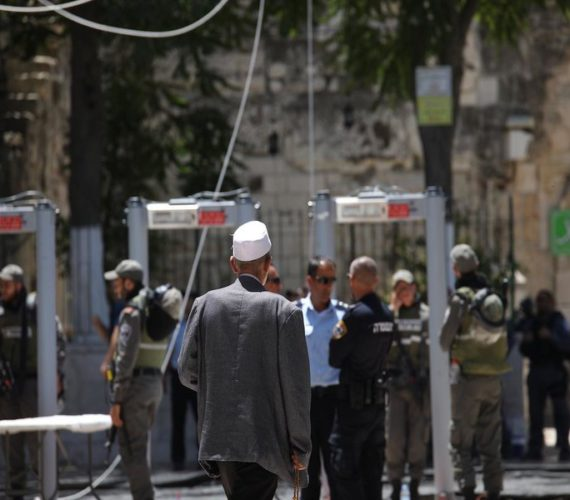 Israel removes metal detectors from al-Aqsa compound, security cameras remain