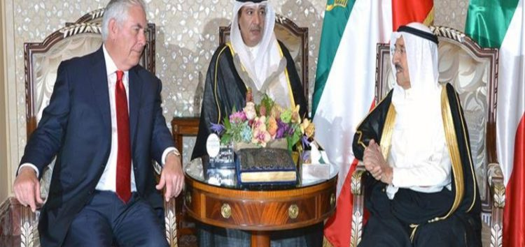 Rex Tillerson arrives in Doha to meet with Qatar emir