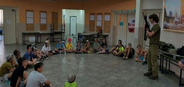 Israel gives settler children firearms training