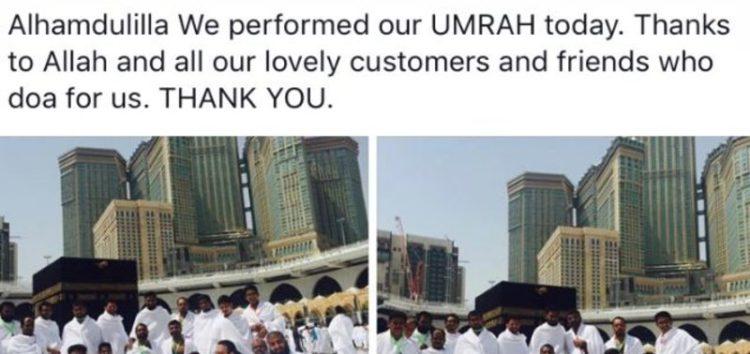 Kind Hearted Singaporean Muslim restaurant's owner saved for 3 years to take his 27 employees on Umrah in the last ten days of Ramadan