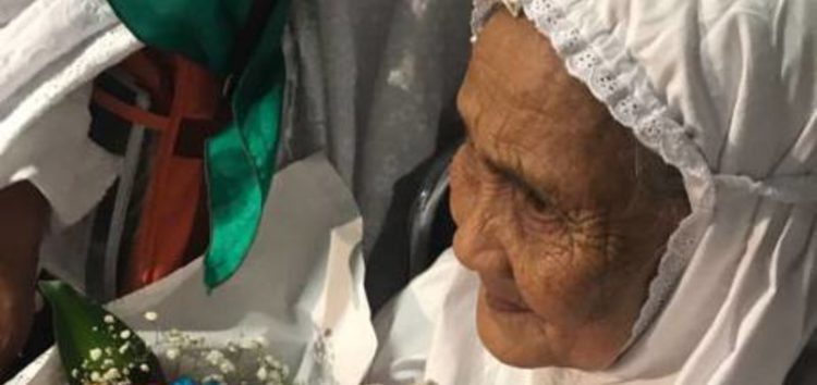 104 year old hajiyah now an official guest