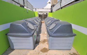 Hajj 1438 – Environment friendly solar garbage bins in the Holy Sites