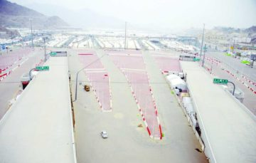 Jamarat Bridge has numerous entries and exits to prevent stampede