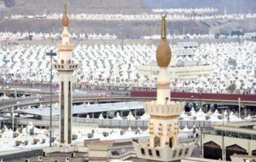 Mina all set and ready for hujaaj #Hajj1438