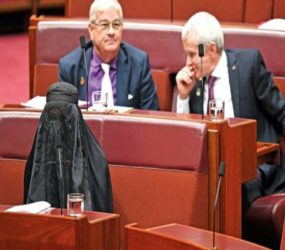 Aussie senate Pauline Hanson rebuked for ridiculing Muslims