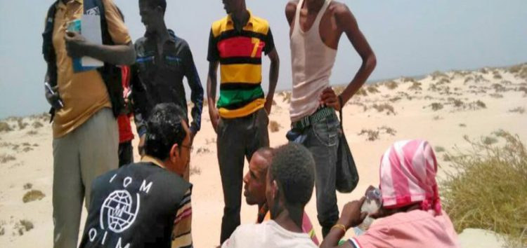Scores of refugees drown as human trafficker forces them off boat near Yemen