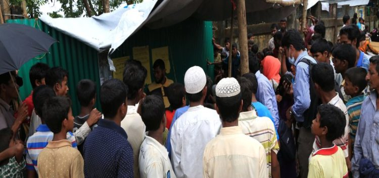 Makeshift 'Lost and found booth' reunites Rohingya families via public announcements in Kutupalong