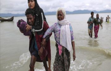 UN says Myanmar's security operation in Rakhine state 'seems a textbook example of ethnic cleansing', Over 310,000 Rohingya have fled to Bangladesh