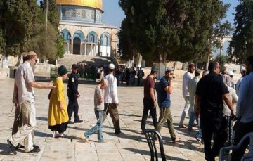 Some 500 Israeli settlers storm Masjid Al Aqsa,pledge to build temple at Al-Aqsa Compound