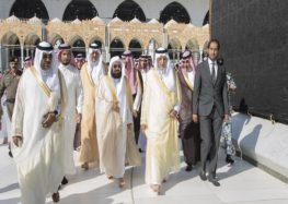 Mecca governor washes the Kaaba on behalf of Saudi King Salman