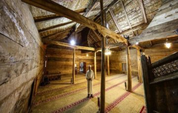 800 year old wooden mosque, built without a single nail in 1206, showcases Turkish craftsmanship