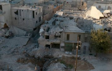 Syrian child escapes death after playing with bomb
